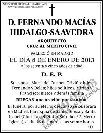 Fernando Macías Hidalgo-Saavedra